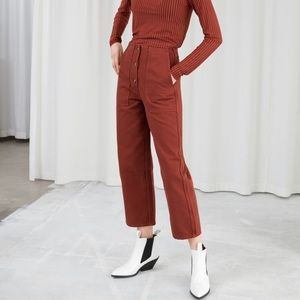 & Other Stories Button Front Culottes Trousers